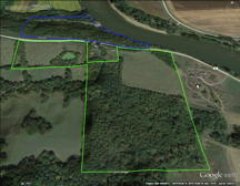 Wapello County Iowa 70 Acre Farm Land for Sale along Des Moines River near Ottumwa Iowa.