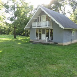 Front view of Wapello home on 5 acres