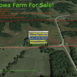 Aerial Picture of Davis county Iowa 80 Acre Farm for Sale