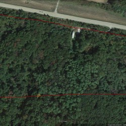 Aerial view of Wapello county 16 acre timber