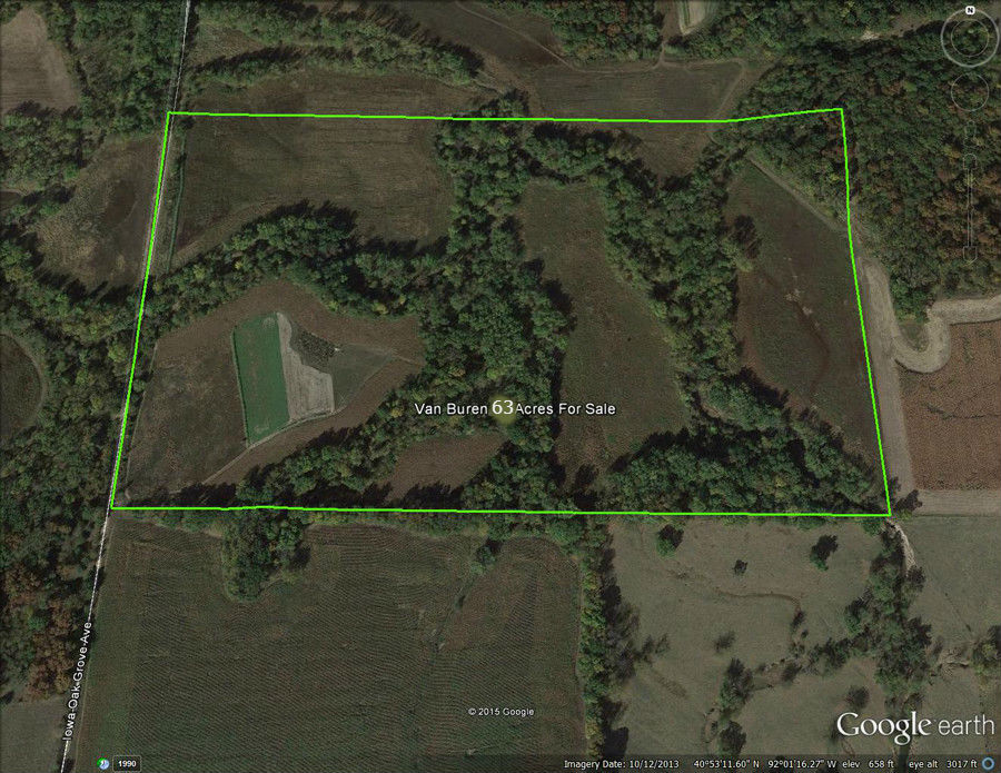 Picture of Van Buren county Iowa 63 acre farm for sale.