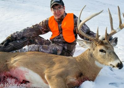 Picture of an Iowa whitetail buck taken during the late muzzleloader season.